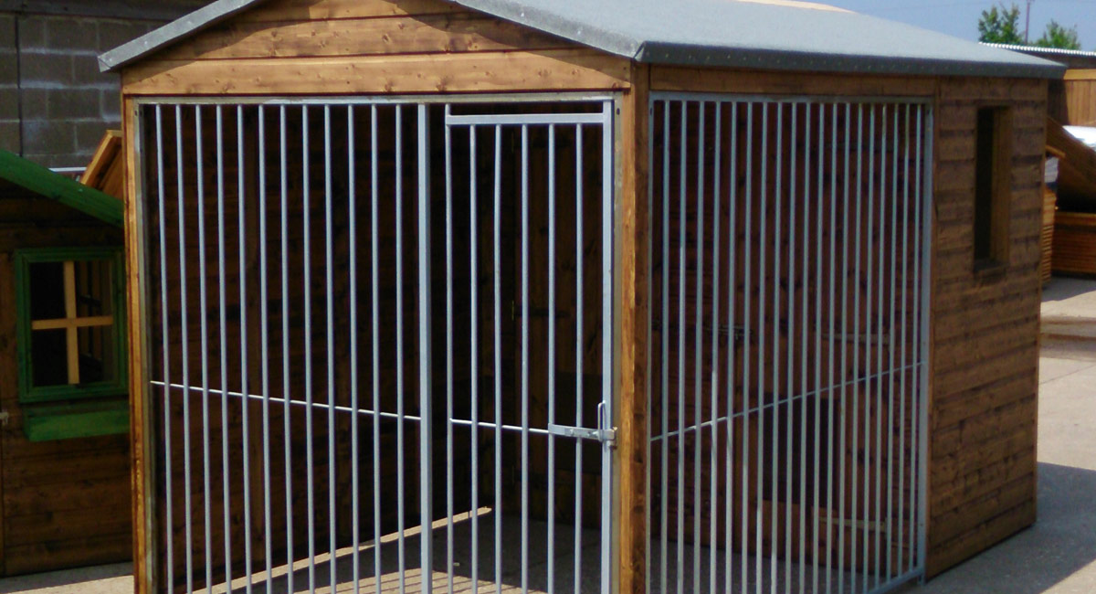 Wooden garden kennel